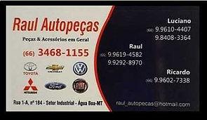 Raul Auto Peças Água Boa MT