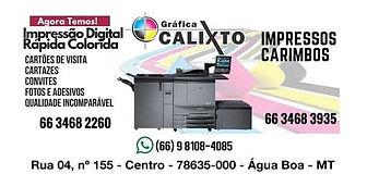 Gráfica Calixto Água Boa MT
