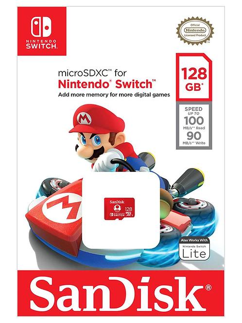 Memoria MicroSD SDXC Nintendo Switch 128 GB SanDisk Clase 10