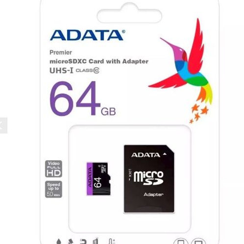 Micro SD 64GB Class 10 ADATA