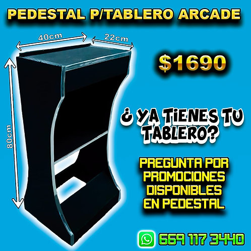 PEDESTAL PARA TABLERO ARCADE