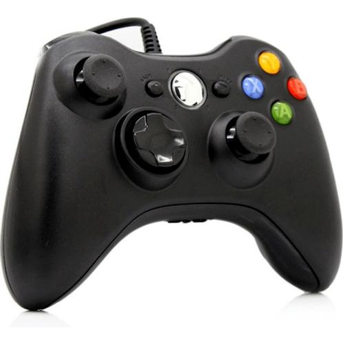 Control Para Xbox 360 Negro Alámbrico (GENERICO)