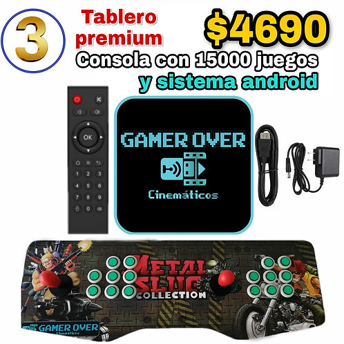 TABLERO PREMIUM CON CONSOLA GAMER OVER - GONZALO