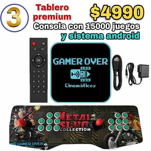 TABLERO PREMIUM CON CONSOLA GAMER OVER