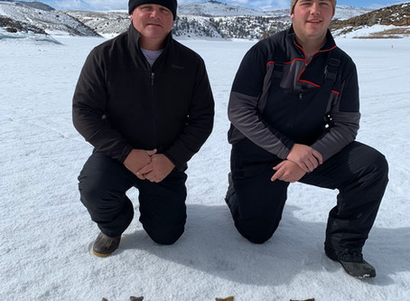 Ice report for the final weeks of ice fishing on Blue Mesa Reservoir
