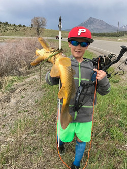 Brylan and his first carp
