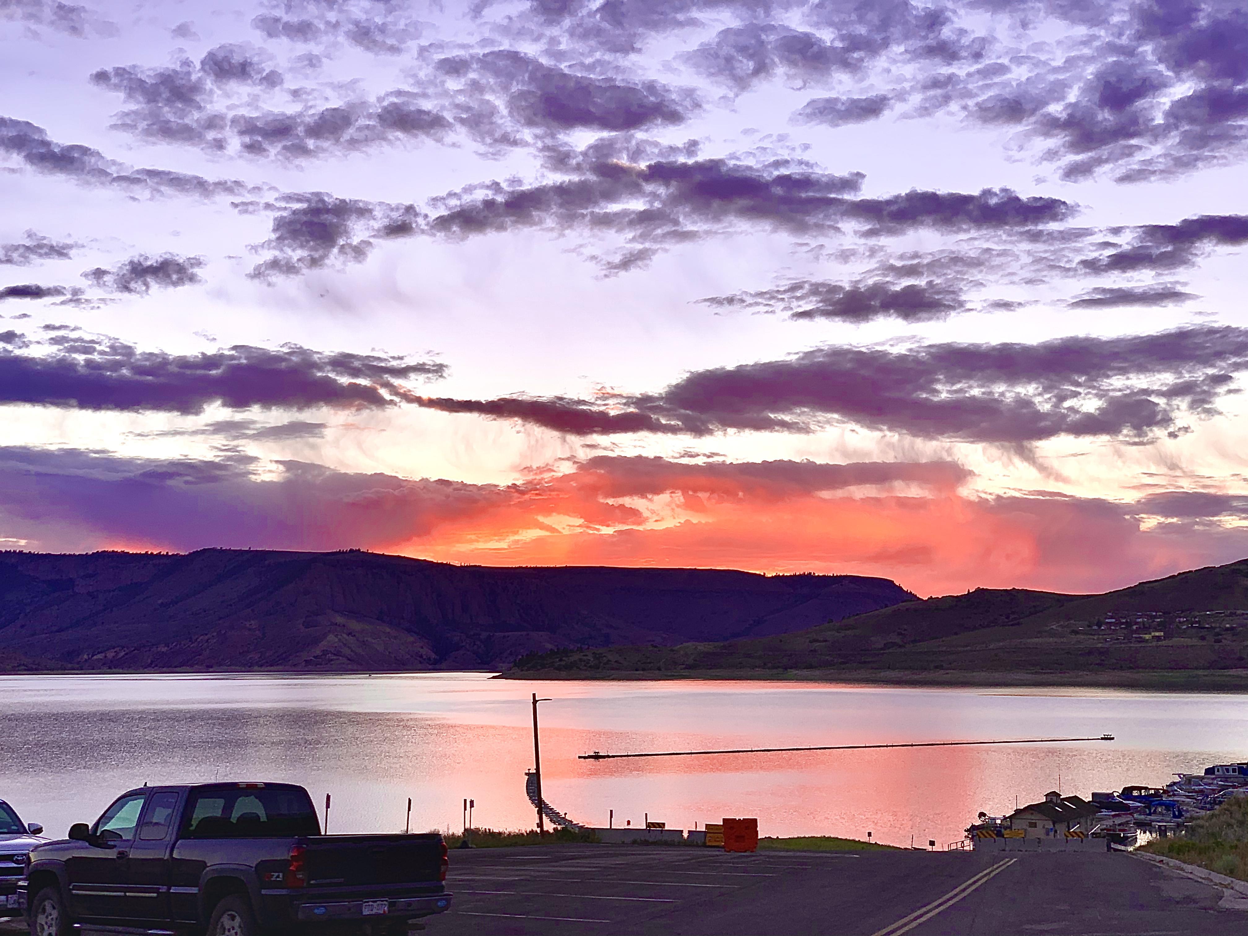 Sunrise on Blue Mesa