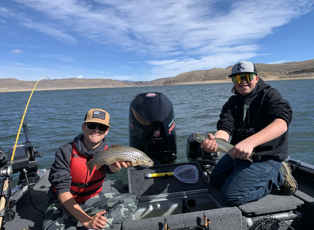 Colorado fall fishing is hot on Blue Mesa Reservoir in Gunnison