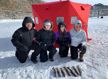 Gunnison ice fishing trips on Blue Mesa Reservoir