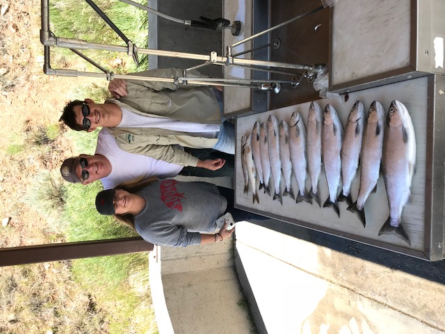 Clients with their catch