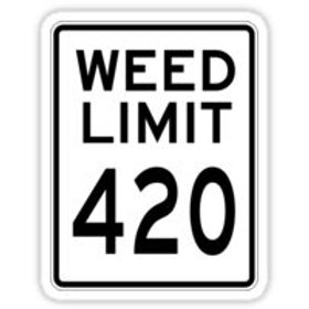 weed limit 420 decal