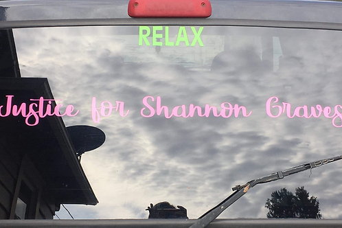 justice for shannon graves decal