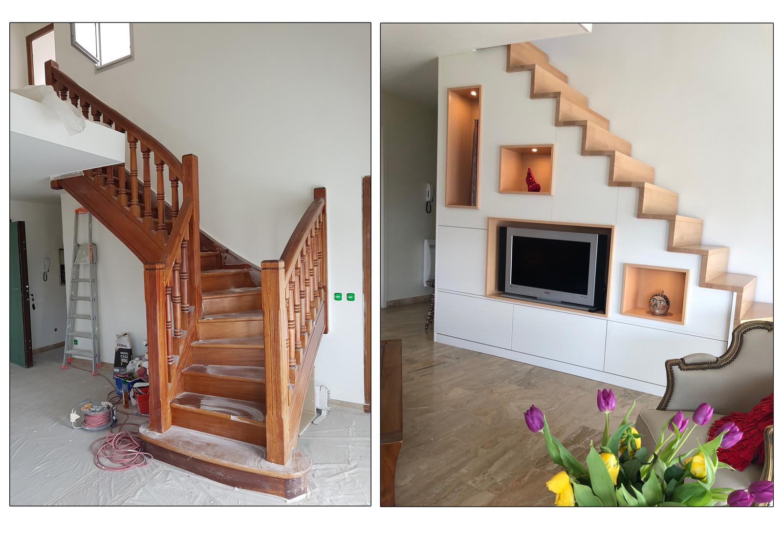 Meuble sur mesure sous escalier Meuble sur mesure sous escalier