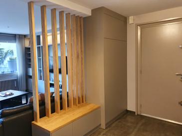 Meuble d'entrée avec claustra