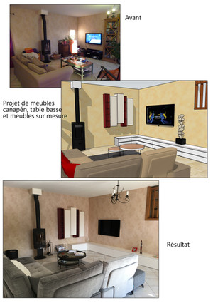 Création de meubles pour un salon