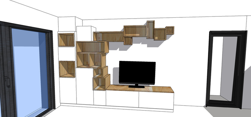 Meuble TV avec modules