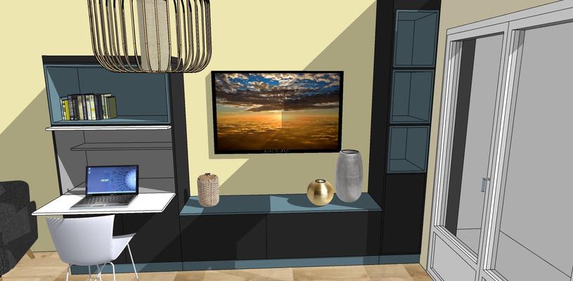 Meuble TV et bureau salon