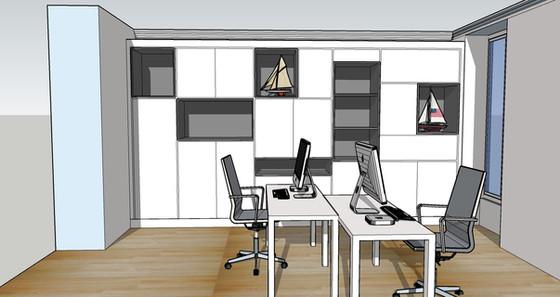 Projet meuble pour une piece bureau