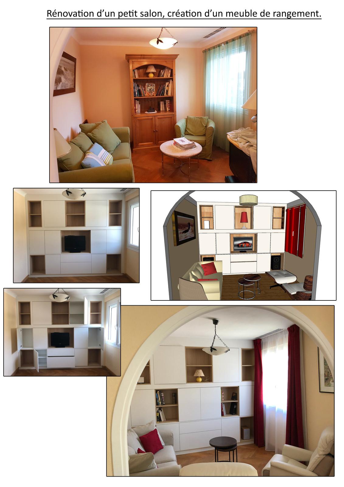 Meuble Sur Mesure Salon meuble sur mesure petit salon