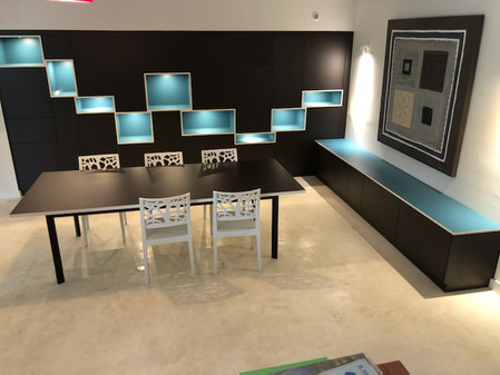 meuble sur mesure bicolore