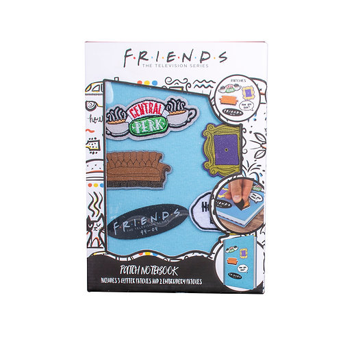Friends Velcro Notebook with Patches