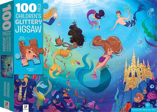 100-Piece Children's Jigsaw with Treatments: Mermaids
