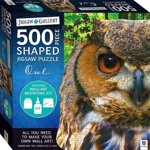 Jigsaw Gallery 500-piece Shaped Jigsaw: Owl