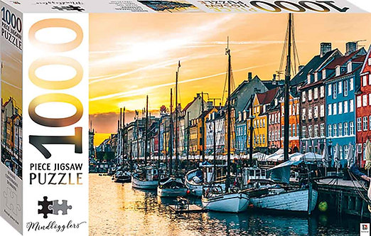 Nyhavn, Copenhagen, Denmark 1000 piece jigsaw
