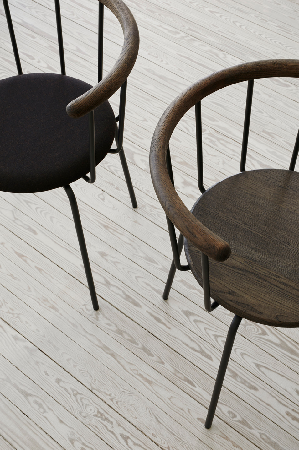Babette dining chairs in dark shades