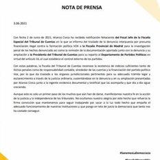 Nota de Prensa 3 de junio de 2021