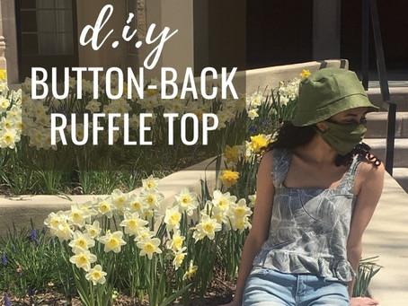 Button-Back Ruffle Top