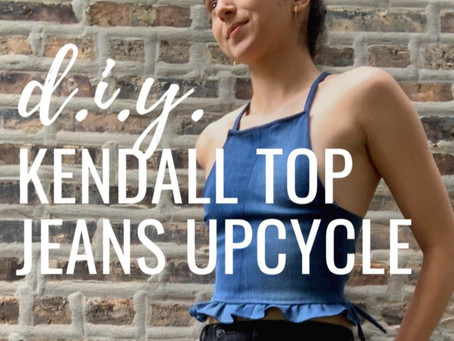 Kendall Top: Part 1/2 of the Low-Waste Jeans Upcycle