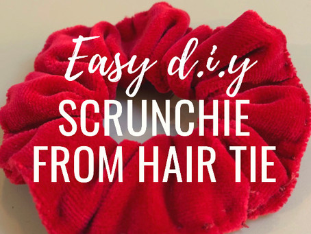 Easy D.I.Y. Scrunchie from Hair Tie