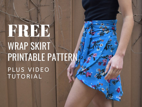 Simple Wrap Skirt Tutorial and Free PDF Pattern