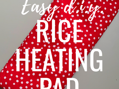 Easy D.I.Y. Rice Heating Pad