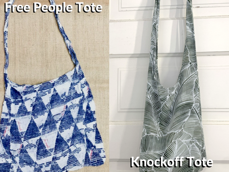 Easy D.I.Y. Free People Tote Knockoff