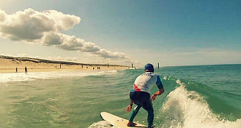 xperience gliss  biscarrosse école de surf la sud moniteur surf stage perfectionnement