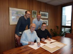 ATP styringsgruppen: Her tilstede ved Bjørn Iddberg (ordfører og leder av styringsgruppen), Cato Løkken (Statens vegvesen), Geir Skari (Byen vår Gjøvik) og Eivind Myhr (Oppland fylkeskommune).