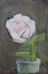 Rose, 2013, 30x20, acrylique sur bois, Christine Lévy-Rostragnat