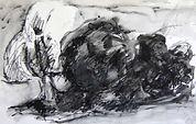 Arbres à Tossiat, 2015, 20x30,  crayon aquarelle Christine Lévy-Rostagnat
