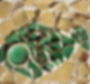 Poisson, 2015, 32x32,tessons de céramique, Christine Lévy-Rostagnat