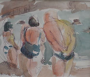 Yeu, 2014, 20X30, aquarelle, Christine Lévy-Rostragnat