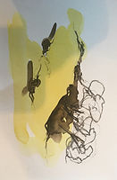 arbres Christine Lévy-Rostagnat 2020 aquarelle 20 x 30