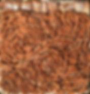 Sans titre, mosaïque 2015, 32x32, terre cuite-ciment, Christine Lévy Rostagnat
