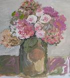 Fleurs, 2014, 30x30, acrylique, Christine Lévy-Rostragnat