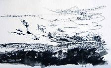 Journans, 2014,15X21,  crayon aquarelle Christine Lévy-Rostagnat