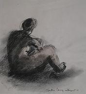 Femme, 2011,30x20,fusain  crayon, Christine Lévy-Rostagnat