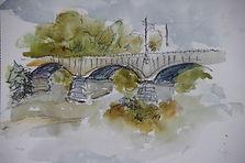 Pont d'Ain, 2014, 20x30, aquarelle, Christine Lévy-Rostagnat