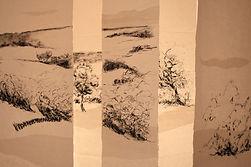 Chemin de Paysage 2016  4mx2mX3,20m fusain sur papier thaï Christine Lévy-Rostagnat © B. Dutheil