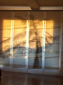 L'humanité installation 2018 2,40 x 4 m fusain sur papier thaï Christine Lévy-Rostagnat